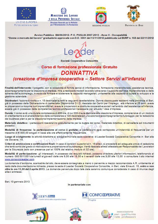 Donnattiva (creazione d'impresa cooperativa settore servizi all'infanzia)