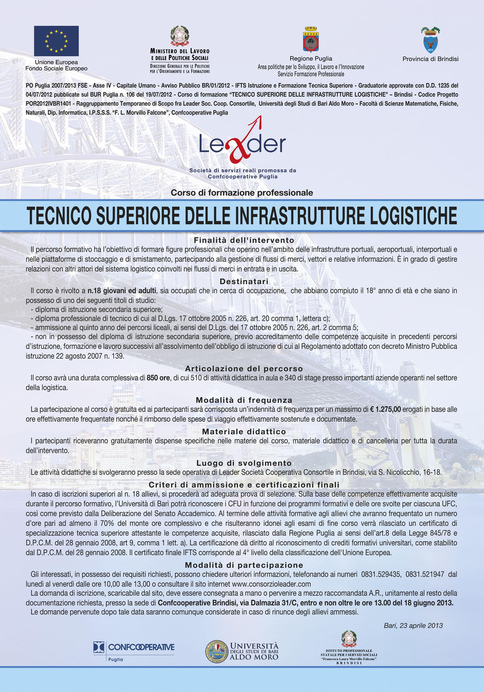 Tecnico superiore delle Infrastrutture Logistiche