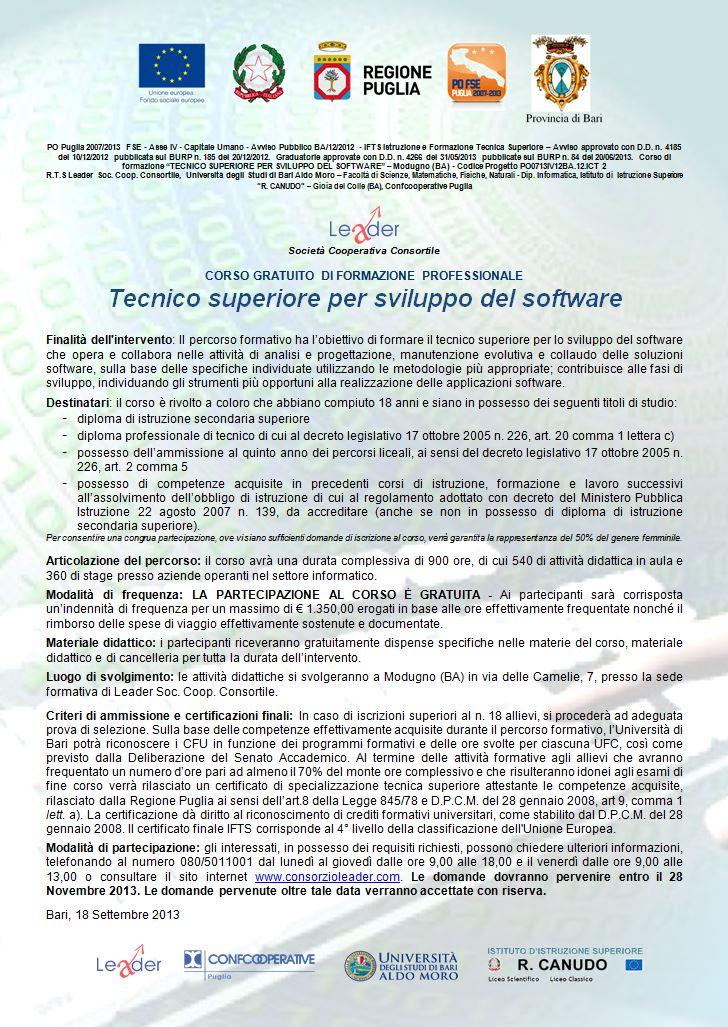 Tecnico superiore per sviluppo software
